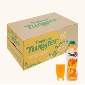 Thùng 24 chai nước cam ép Twister Tropicana 455ml