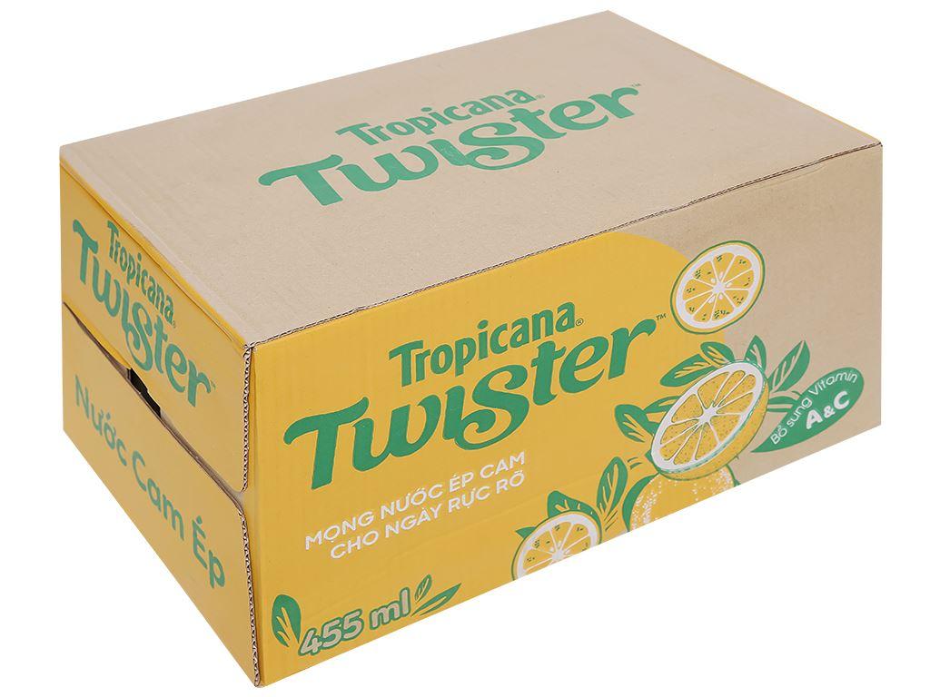 Thùng 24 chai nước cam ép Twister Tropicana 455ml 1