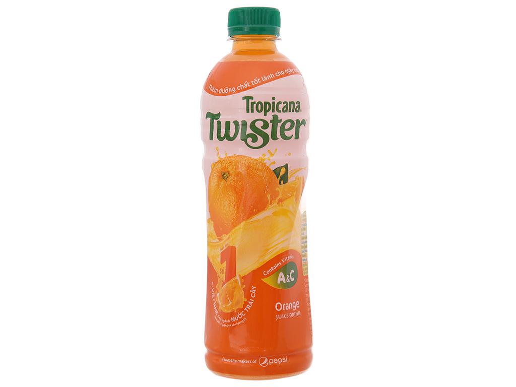 Thùng 24 chai nước cam ép Twister Tropicana 455ml 2