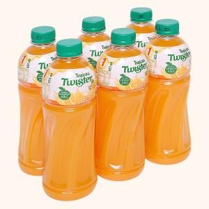 6 chai nước cam ép Twister Tropicana 455ml