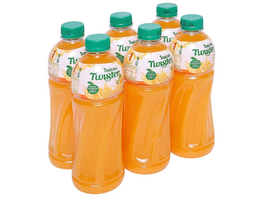 6 chai nước cam ép Twister Tropicana 455ml 1