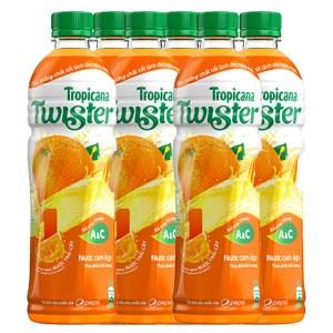 Nước cam nguyên tép Twister chai 455ml (6 chai)