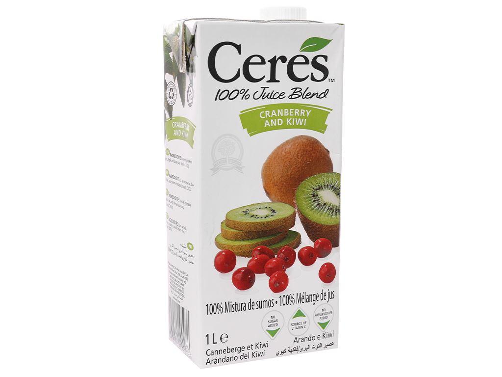 Nước ép nam việt quất và kiwi Ceres 1 lít 1