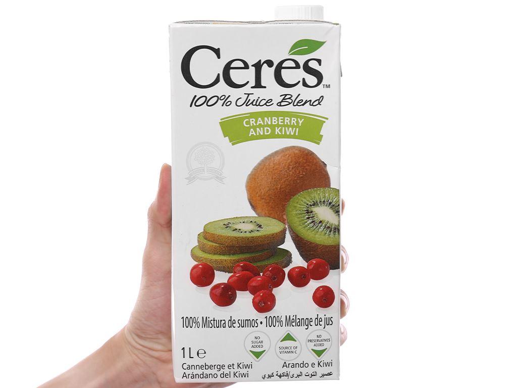 Nước ép nam việt quất và kiwi Ceres 1 lít 5