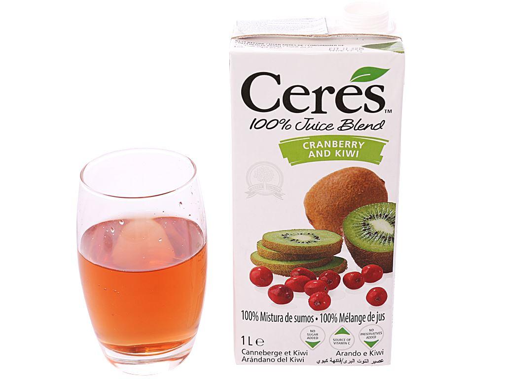 Nước ép nam việt quất và kiwi Ceres 1 lít 6
