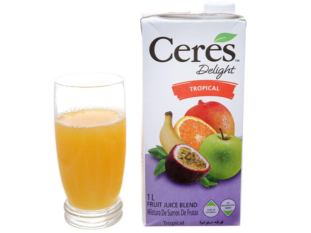 Nước ép trái cây nhiệt đới hỗn hợp Ceres 1L 4