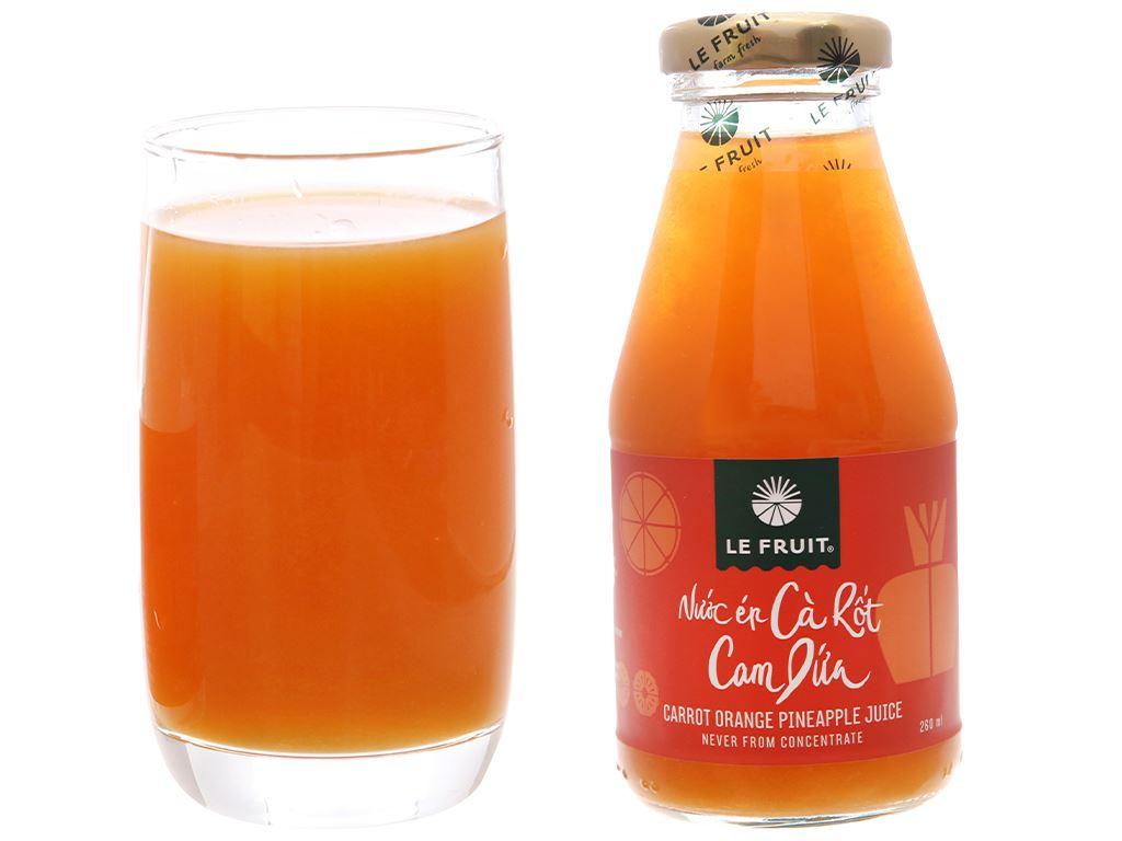 Nước ép cà rốt, cam, dứa Le Fruit 260ml 6
