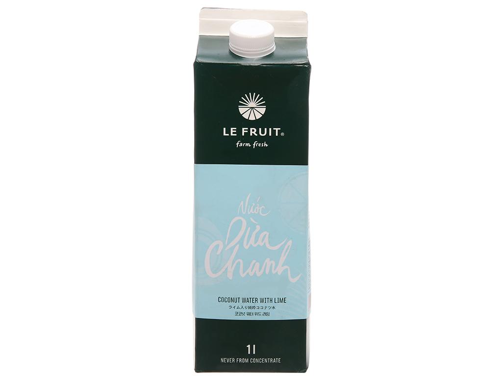 Nước dừa, chanh Le Fruit 1L 1