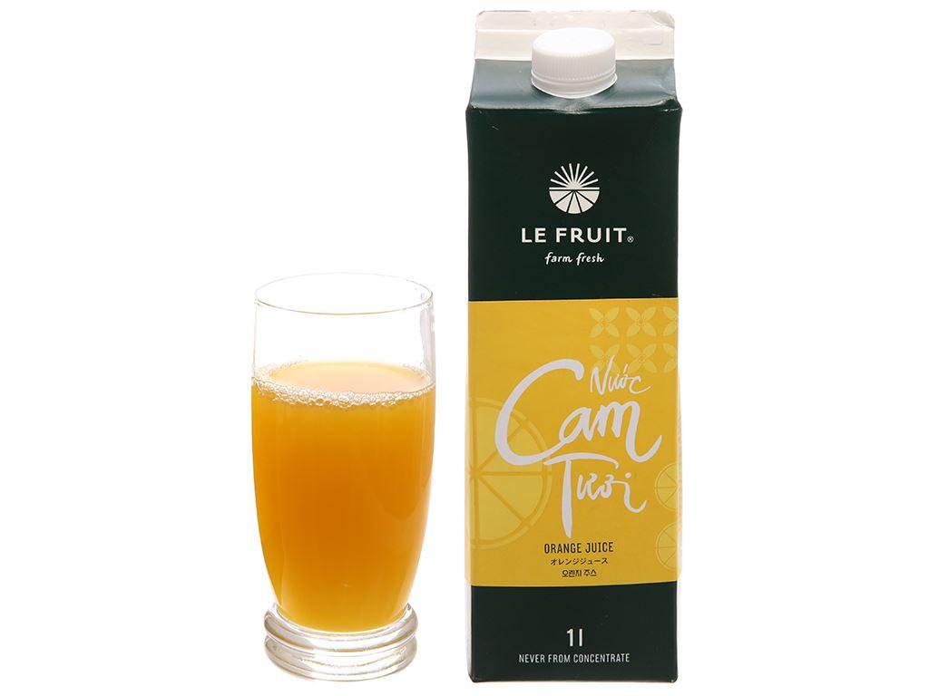 Nước cam tươi Le Fruit 1 lít 6