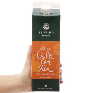 Nước ép cà rốt, cam, dứa Le Fruit 1L
