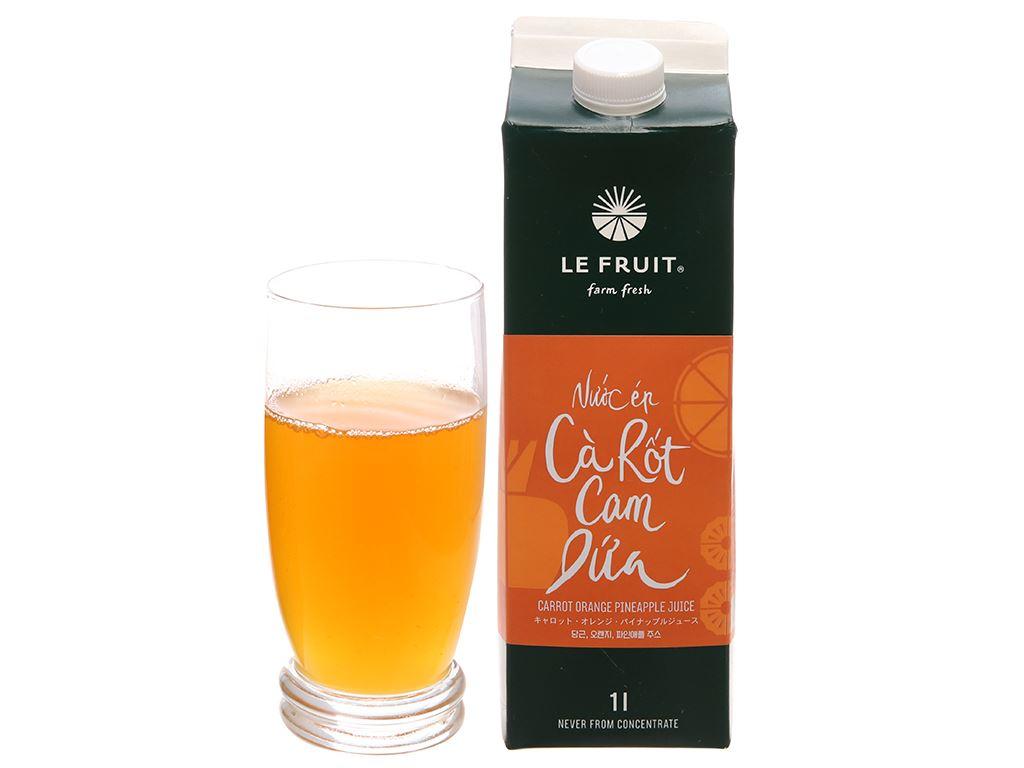 Nước ép cà rốt, cam, dứa Le Fruit 1 lít 3