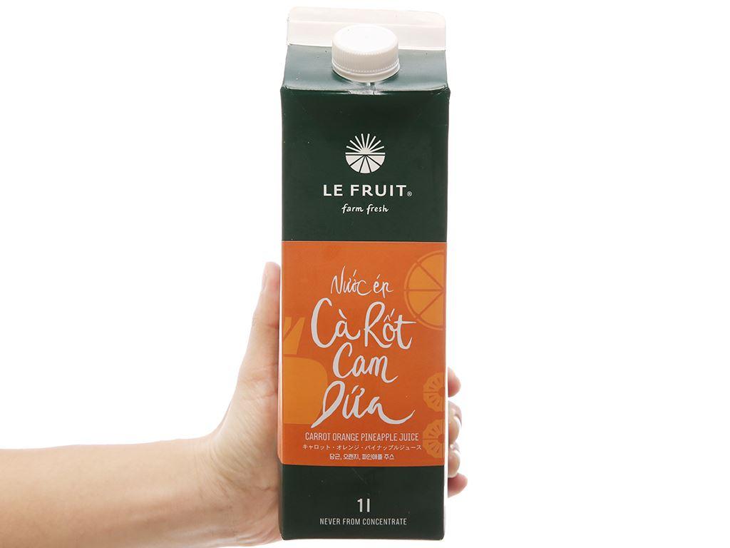 Nước ép cà rốt, cam, dứa Le Fruit 1 lít 4