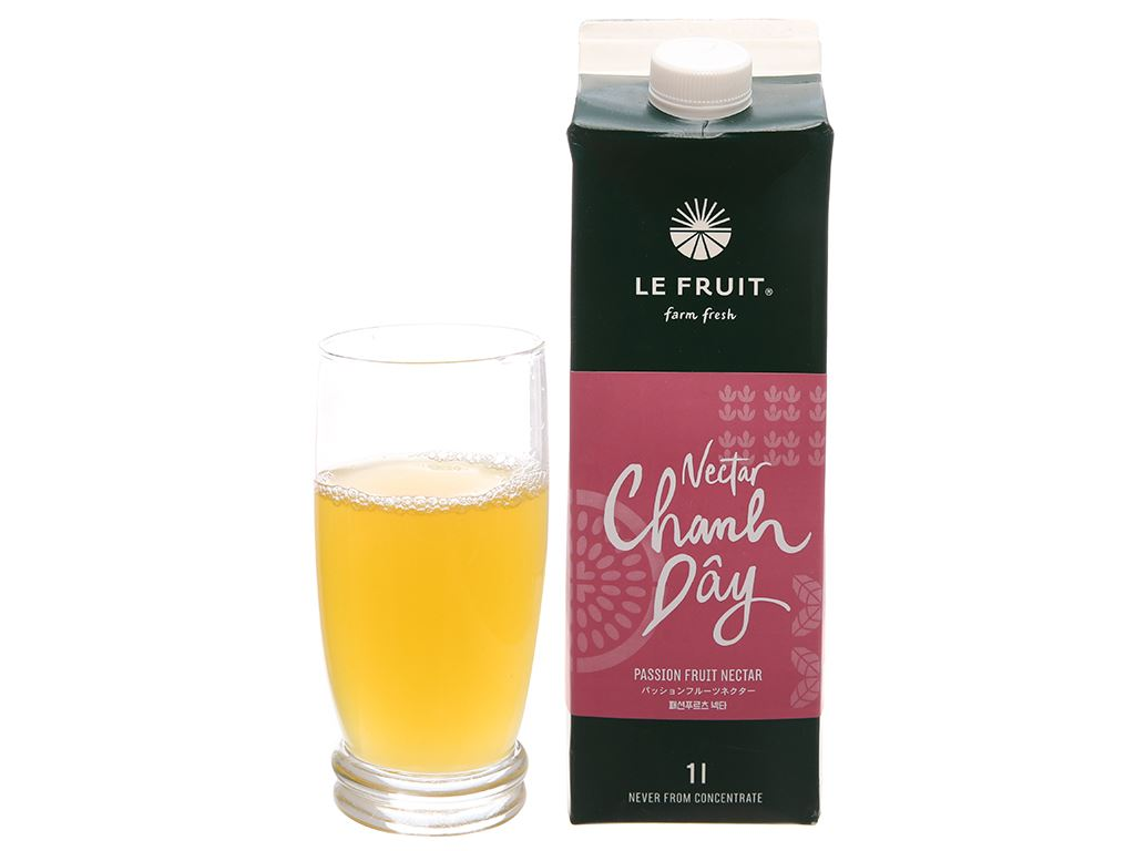 Nectar chanh dây Le Fruit 1L 6