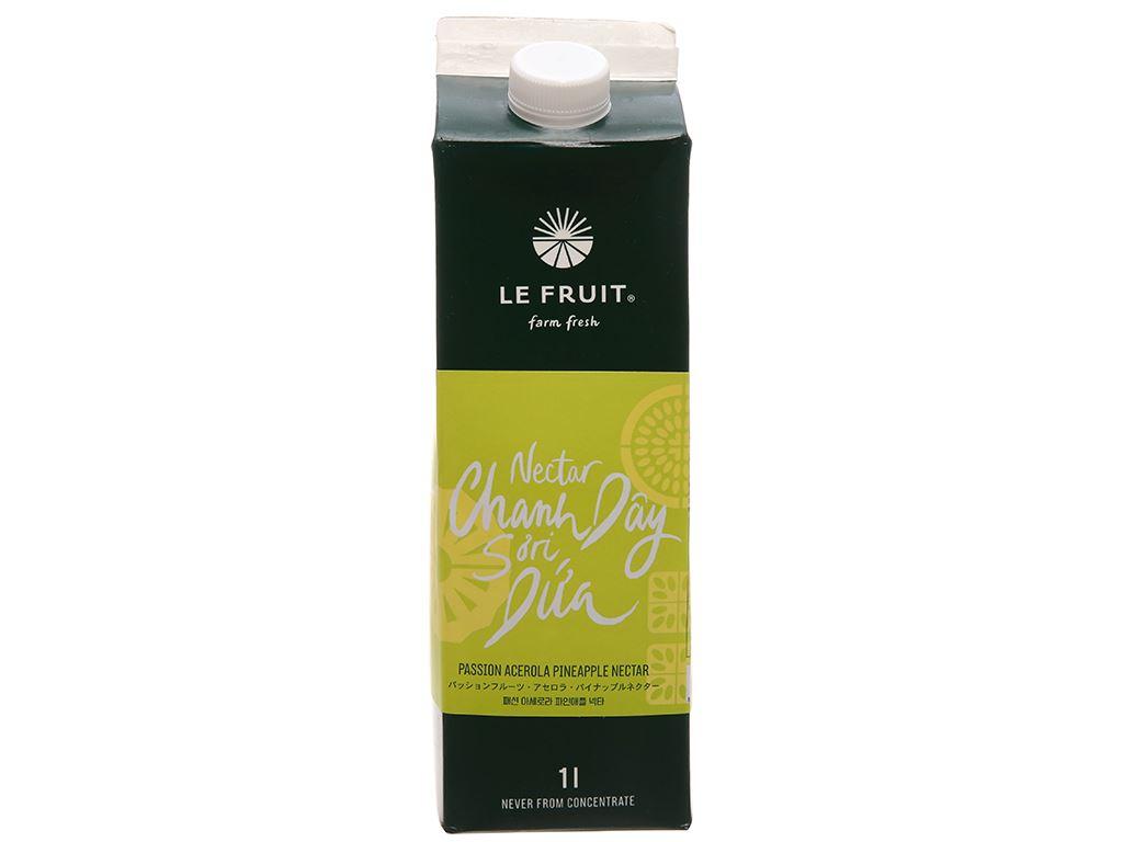 Nước ép nectar chanh dây, sơ ri, dứa Le Fruit 1 lít 1
