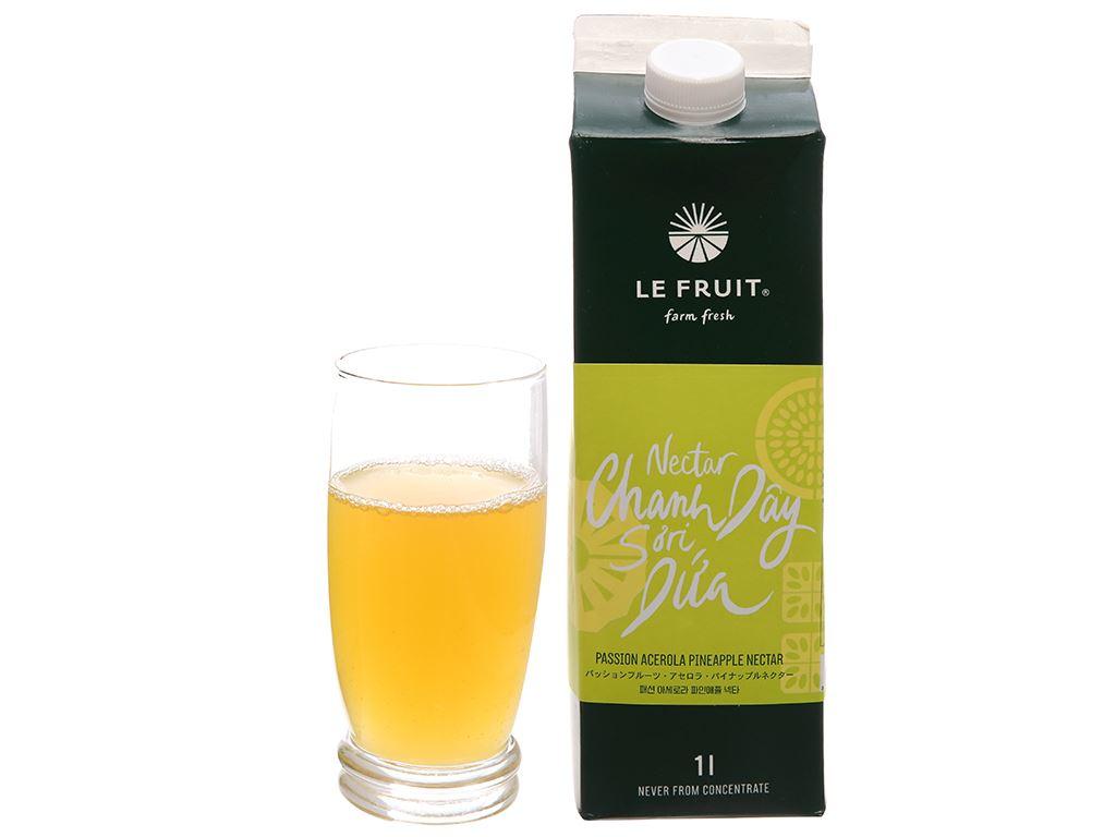 Nước ép nectar chanh dây, sơ ri, dứa Le Fruit 1 lít 3