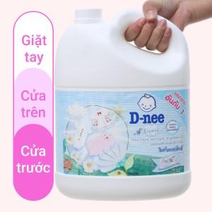 Nước giặt cho bé D-nee Lively trắng phấn thơm can 3 lít