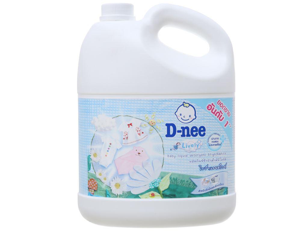 Nước giặt cho bé D-nee Lively trắng phấn thơm can 3 lít 2
