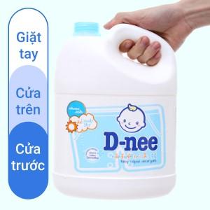 Nước giặt cho bé D-nee Lovely Sky xanh thơm lâu can 3 lít