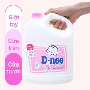 Nước giặt cho bé D-nee Honey Star hồng dịu nhẹ can 3 lít