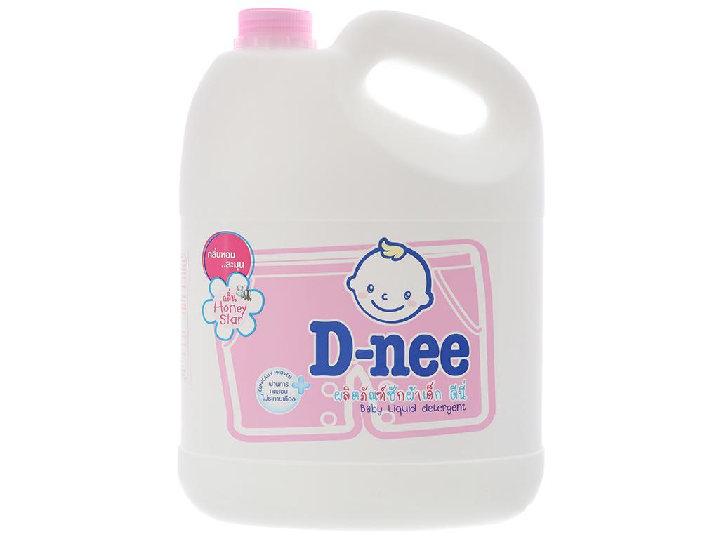 Nước giặt cho bé D-nee Honey Star hồng dịu nhẹ can 3 lít 2
