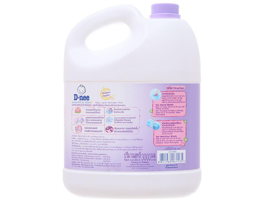 Nước giặt cho bé D-nee Yellow Moon tím chống ẩm mốc can 3 lít 3