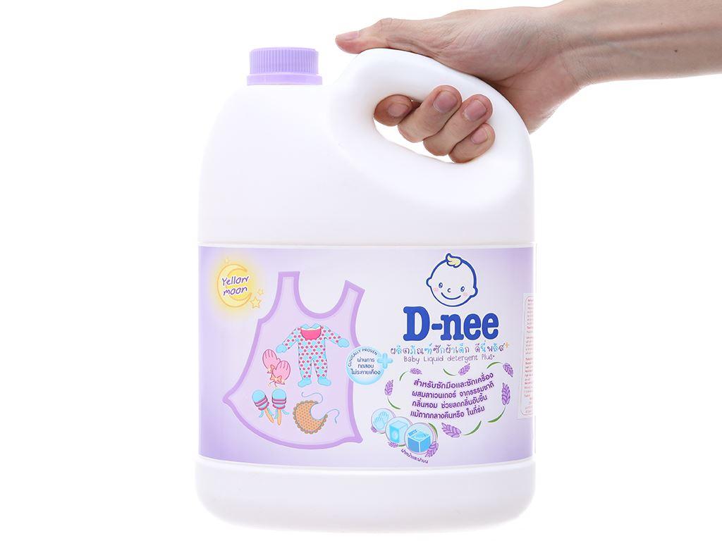 Nước giặt cho bé D-nee Yellow Moon tím chống ẩm mốc can 3 lít 4