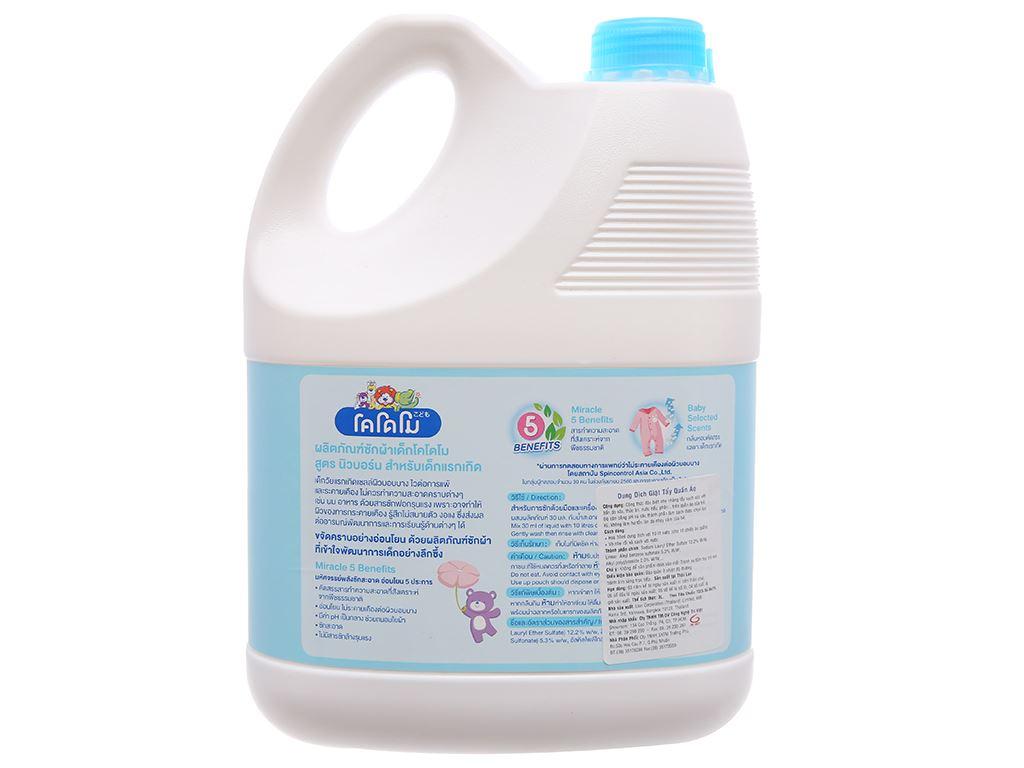 Nước giặt tẩy cho bé Kodomo xanh dịu nhẹ can 3 lít 3