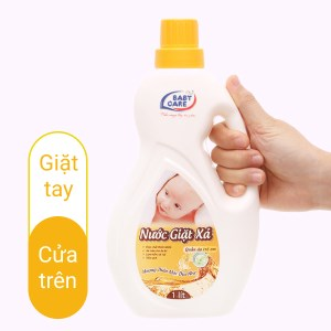 Nước giặt xả cho bé Baby Care hương thảo mộc chai 1 lít