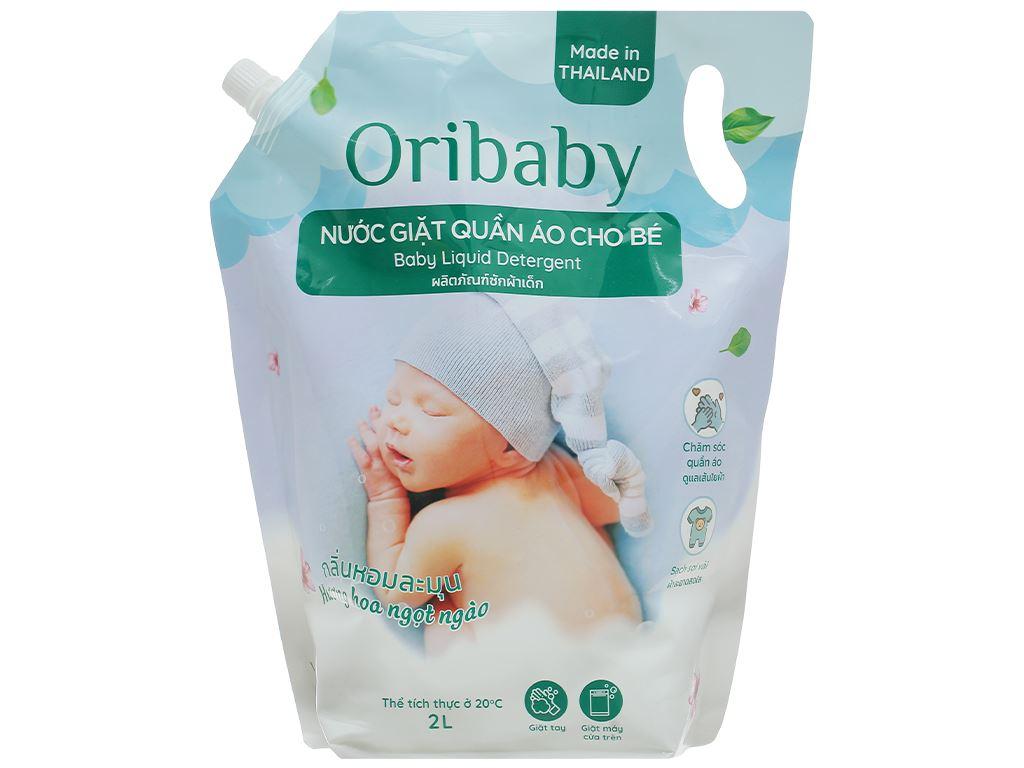 Nước giặt cho bé Oribaby hương hoa ngọt ngào túi 2 lít 1