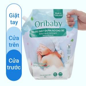 Nước giặt cho bé Oribaby hương hoa ngọt ngào túi 2 lít