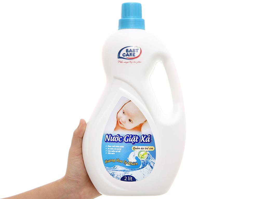 Nước giặt xả cho bé Baby Care hương hoa tự nhiên chai 2 lít 4