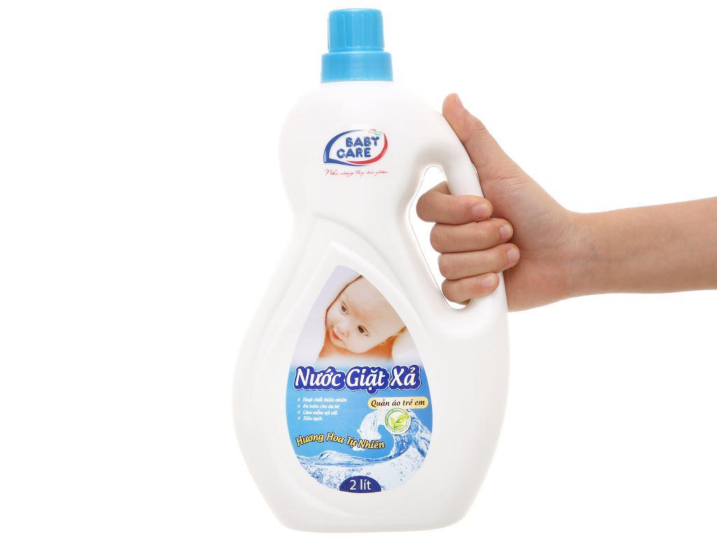Nước giặt xả cho bé Baby Care hương hoa tự nhiên chai 2 lít 5