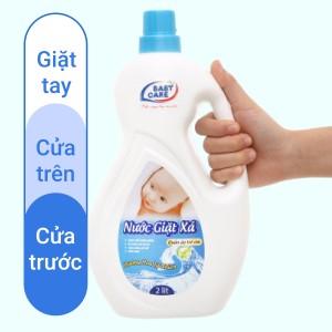 Nước giặt xả cho bé Baby Care hương hoa tự nhiên chai 2 lít