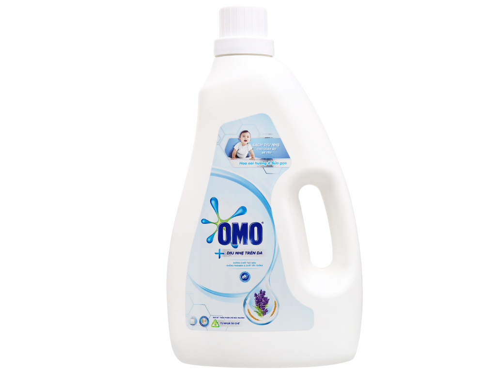 Nước giặt cho bé OMO Matic hương dịu nhẹ dịu nhẹ chai 2.2 lít 5