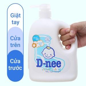 Nước giặt cho bé D-nee Lovely Sky xanh chai 960ml