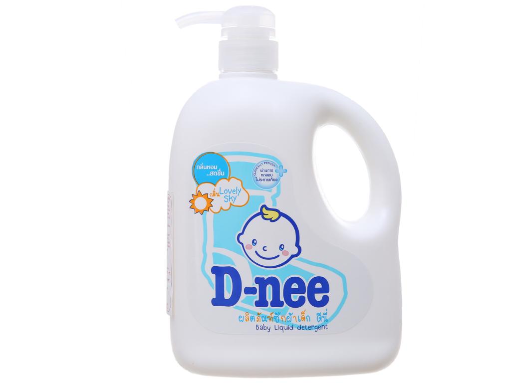 Nước giặt cho bé D-nee Lovely Sky xanh chai 960ml 2