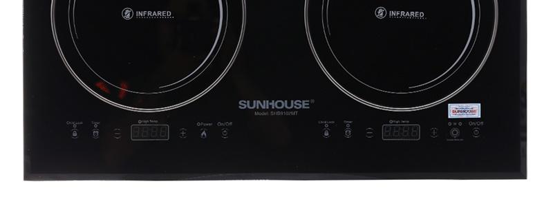 Bếp hồng ngoại đôi Sunhouse SHB9102MT