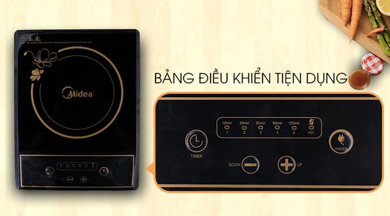 Bảng điều khiển - Bếp hồng ngoại Midea MIR-B2017DD