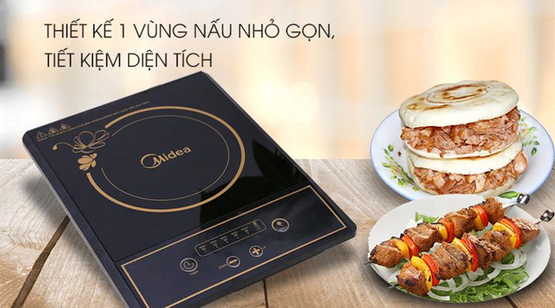 Thiết kế - Bếp hồng ngoại Midea MIR-B2017DD