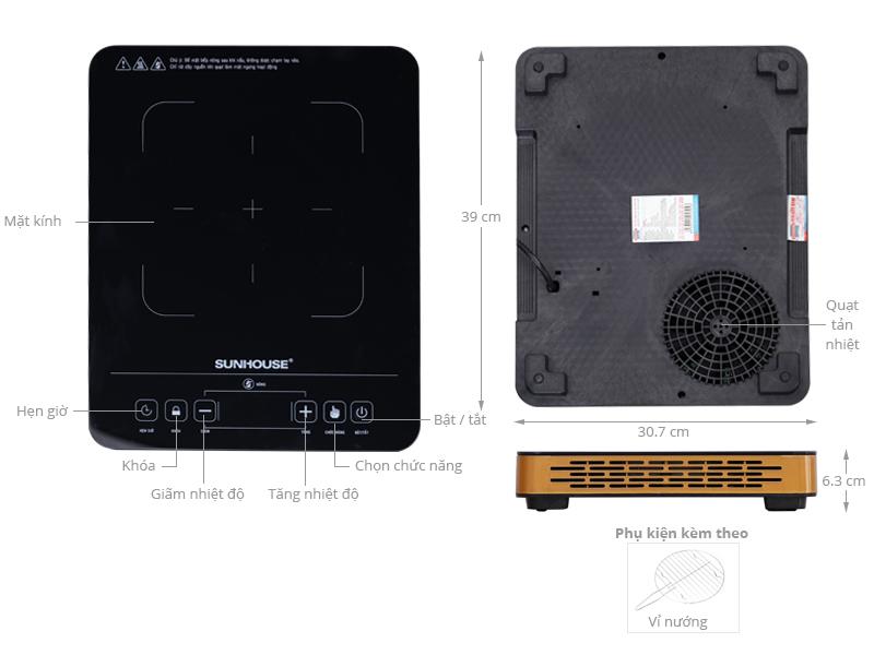 Thông số kỹ thuật Bếp hồng ngoại Sunhouse SHD 6015