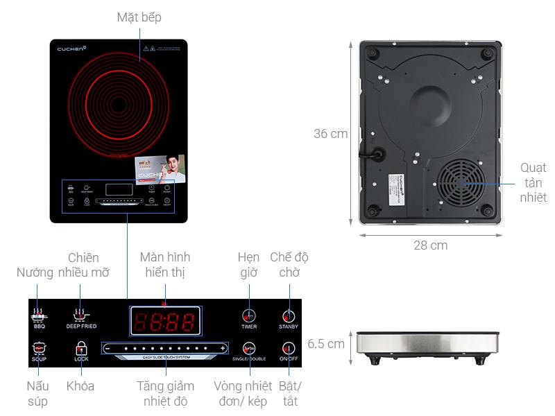 Thông số kỹ thuật Bếp hồng ngoại Cuchen CHR-F161VN