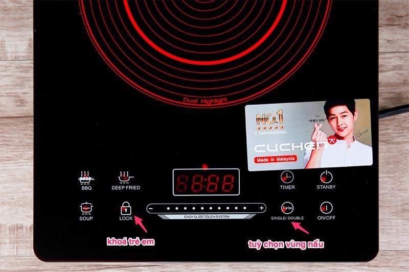 Bếp hồng ngoại Cuchen CHR-F161VN - bảng điều khiển cảm ứng