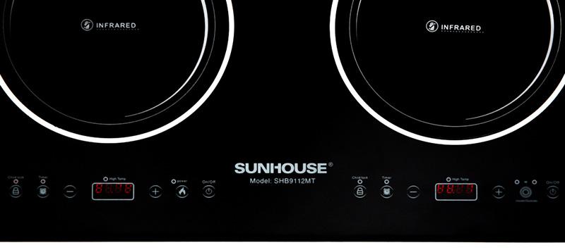 Điều khiển cảm ứng - Bếp hồng ngoại đôi Sunhouse SHB9112MT