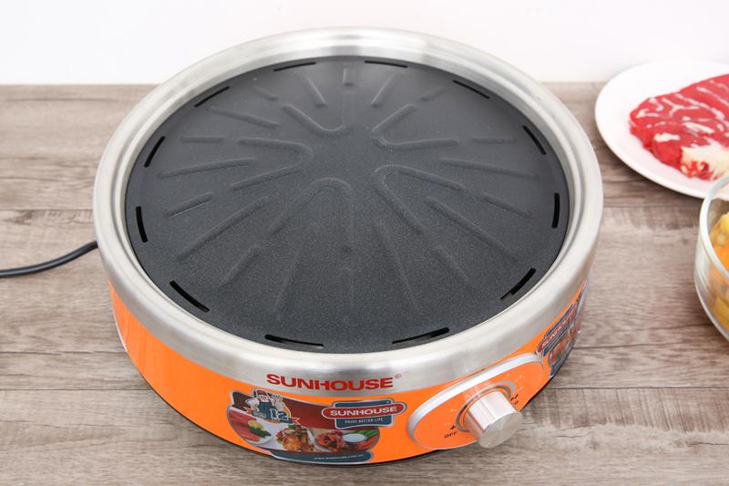 Vỉ nướng chống dính - Bếp hồng ngoại Sunhouse SHD4668