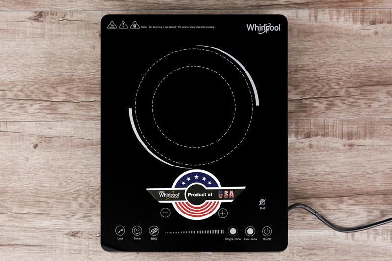 Mặt bếp hồng ngoại phủ kính cao cấp, chịu lực chịu nhiệt tốt - Bếp hồng ngoại Whirlpool ACT209/BLV