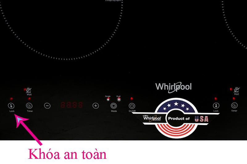 Khóa an toàn - Bếp hồng ngoại đôi Whirlpool ACT752/BLV