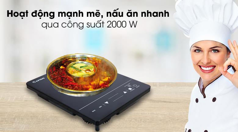 Bếp hồng ngoại Rapido RC2000ES - Hoạt động mạnh mẽ với công suất 2000 W