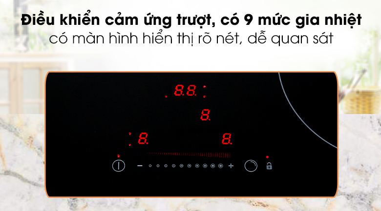 Bếp hồng ngoại 3 vùng nấu Hafele HC-R603D có bảng điều khiển cảm ứng trượt