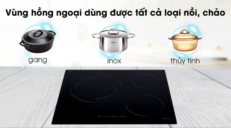 Bếp hồng ngoại 3 vùng nấu Hafele HC-R603D dùng được với mọi loại nồi