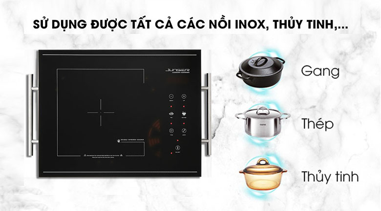 Sử dụng nồi chảo bếp hồng ngoại Junger MT-21